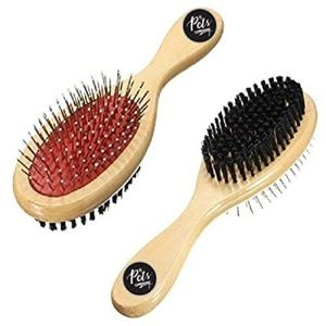 Greenbrier Red and Black Double Side Pet Brush NWT